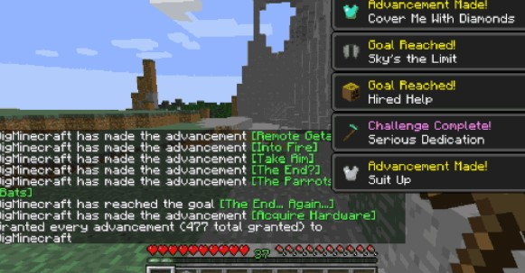 Sevtech Give Advancement Command Minecraft Forge So in twilight forest i killed the naga, then a lich, then went to the swamp where i had hunger and can't break blocks around the labyrinth. sevtech give advancement command
